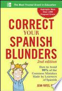 libro Correct Your Spanish Blunders, 2nd Edition