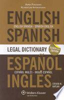Diccionario Jurídico Inglés Español, Español Inglés Aspen