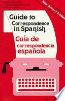 libro Guide To Correspondence In Spanish