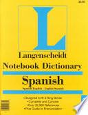Notebook Dictionary Spanish