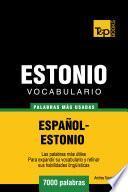 Vocabulario Español Estonio   7000 Palabras Más Usadas