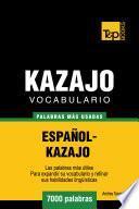 libro Vocabulario Español Kazajo   7000 Palabras Más Usadas