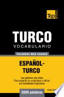 Vocabulario Español Turco   5000 Palabras Más Usadas