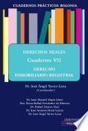 Cuadernos Prácticos Bolonia. Derechos Reales. Cuaderno Vii. Derecho Inmobiliario Registral