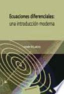 libro Ecuaciones Diferenciales: Una Introducción Moderna