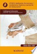 Aplicación De Normas Y Condiciones Higiénico Sanitarias En Restauración. Hotr0108