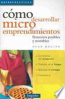 libro Cómo Desarrollar Microemprendimientos
