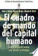 libro El Cuadro De Mando Del Capital Humano