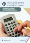 Gestión Auxiliar De Documentación Económico Administrativa Y Comercial. Adgg0408