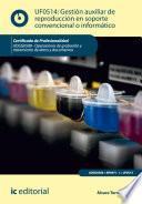 Gestión Auxiliar De Reproducción En Soporte Convencional O Informático. Adgg0508