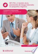 Gestión De La Prevención De Riesgos Laborales En Pequeños Negocios. Comt0112