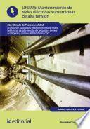 Mantenimiento De Redes Eléctricas Subterráneas De Alta Tensión. Elee0209