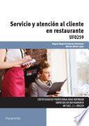 libro Uf0259   Servicio Y Atención Al Cliente En Restaurante