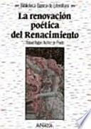 La Renovación Poética Del Renacimiento