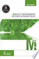 Montaje Y Mantenimiento Eléctrico De Parque Eólico