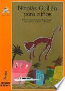 libro Nicolás Guillén Para Niños