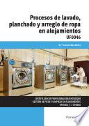 libro Procesos De Lavado, Planchado Y Arreglo De Ropa En Alojamientos