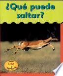libro Qué Puede Saltar?
