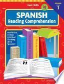 libro Spanish Reading Comprehension, Level 1