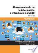 libro Uf1468   Almacenamiento De La Información E Introducción A Sgbd