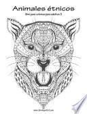 Animales étnicos Libro Para Colorear Para Adultos 3