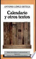 libro Calendario Y Otros Textos