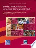 libro Encuesta Nacional De La Dinámica Demográfica 2009. Panorama Sociodemográfico De México. Principales Resultados