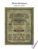 Hermanos Thonet. Catálogo De Venta De 1891