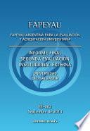 Informe Final Segunda Evaluación Institucional Externa