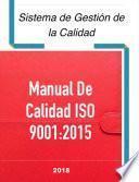 Manual De Calidad Iso 9001:2015