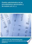 Mf1787_3   Gestión Administrativa De Los Procedimientos Sancionador Y De Revisión