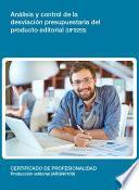 Uf0255   Análisis Y Control De La Desviación Presupuestaria Del Producto Editorial