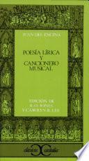 libro Poesía Lírica Y Cancionero Musical