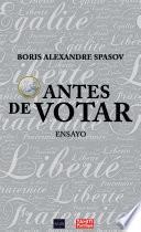 libro 1 Euro Antes De Votar