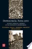 libro Democracia, Hora Cero