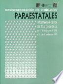 libro Desincorporación De Entidades Paraestatales