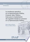 libro Excelencia Operativa En La Administración Pública
