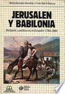 libro Jerusalén Y Babilonia