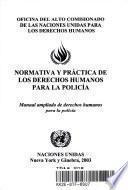 libro Normativa Y Práctica De Los Derechos Humanos Para La Policía