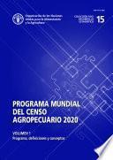 Programa Mundial Del Censo Agropecuario 2020