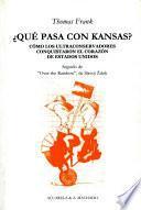 libro ¿qué Pasa Con Kansas?
