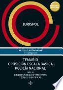Temario Oposición Escala Básica Policía Nacional.