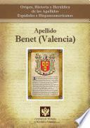 libro Apellido Benet (valencia)
