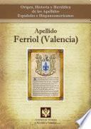 libro Apellido Ferriol (valencia)
