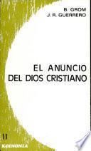 libro El Anuncio Del Dios Cristiano