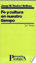 libro Fe Y Cultura En Nuestro Tiempo