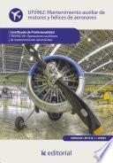 libro Mantenimiento Auxiliar De Motores Y Hélices De Aeronaves. Tmvo0109