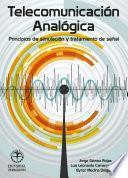 libro Telecomunicación Analógia. Principios De Simulación Y Tratamiento De Señal